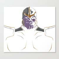 thanos Canvas Prints featuring Thanos by Tharaldsen Design