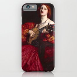 A Lute Player by Edwin Austin Abbey iPhone Case