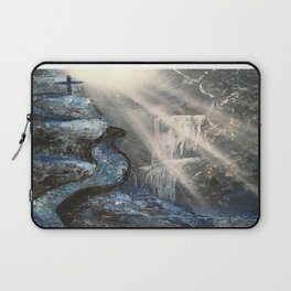 Spray Paint Waterfall Road to the Cross Laptop Sleeve