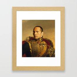 Dwayne Johnson Framed Art Print