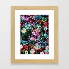 Multicolor Floral Pattern Framed Art Print