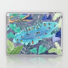 Midnight jungle pool Laptop & iPad Skin