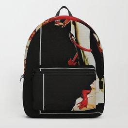 Vintage Campari Italian Bitters Aperitif Angel and Devil Advertisement Poster Backpack