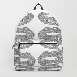 Doodle bitten lip pattern Backpack