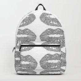Doodle bitten lip pattern Backpack