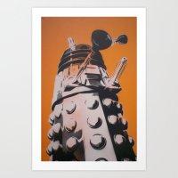 dalek Art Prints featuring Dalek by cocksoupart