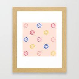 Soccer Ball Illustration – Colorful Framed Art Print