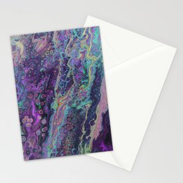 Green Pour Inverted 4 Stationery Cards