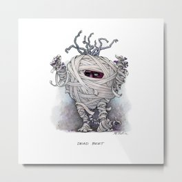 Dead Beet Metal Print