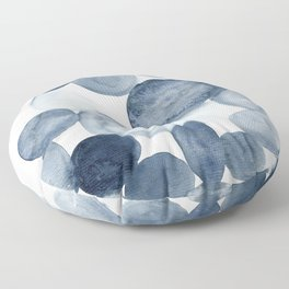 Pebbles Watercolor Abstract Floor Pillow
