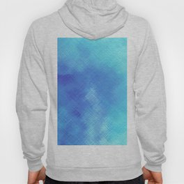 Turquoise Seas Abstract Watercolor - Crosshatched Hoody