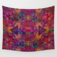escher Wall Tapestries featuring Escher Tile II by RingWaveArt