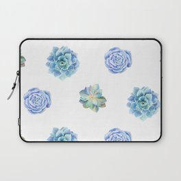 Bue and gren succulents pattern Laptop Sleeve