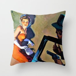 Hugh Joseph Ward - Private Detective Stories pulp cover - Digital Remastered Edition Throw Pillow