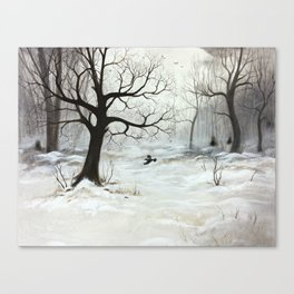 Winter meeting Canvas Print