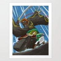 Wind Waker - The Final Battle Art Print