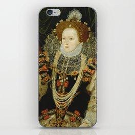 Portrait of Elizabeth I iPhone Skin