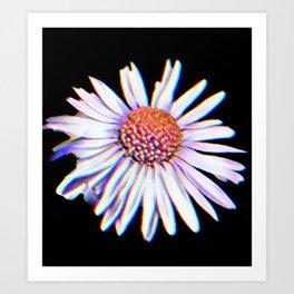 Daisy glitch Art Print