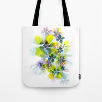 fireworks Tote Bags featuring Fireworks by La Rosette Illustration