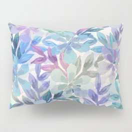 watercolor Botanical garden Pillow Sham