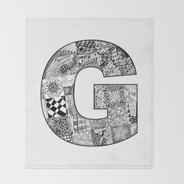 Cutout Letter G Throw Blanket