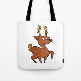 brown  deer cartoon Tote Bag