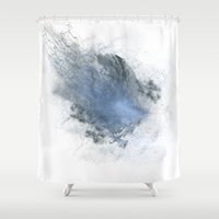the thing Shower Curtains featuring Smoke Thing by Blue Muse