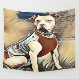 Pit Bull 95% Nice and 5% Naughty Wall Tapestry