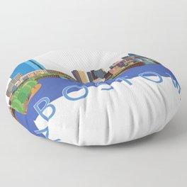 Back Bay Boston Skyline Floor Pillow