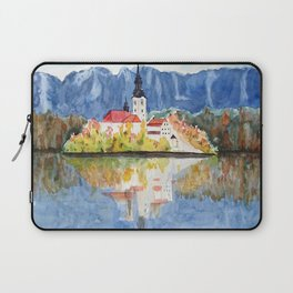 Church of the Assumption in Lake Bled Slovenia Laptop Sleeve