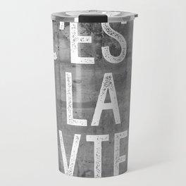 Cest La Vie French Quote That's Life Grey Grunge Travel Mug