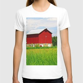 Red Barns and Field T-shirt