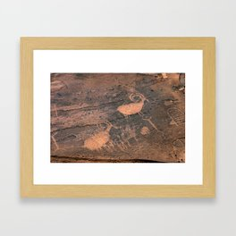 Desert Rock Art - Petroglyphs - II Framed Art Print
