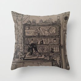 Busy Bedroom Throw Pillow