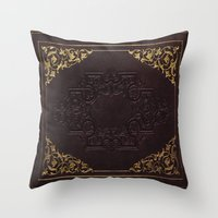 book cover Throw Pillows featuring BOOK COVER by ED design for fun