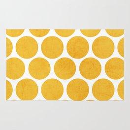 yellow polka dots Rug