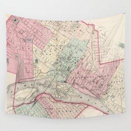 Vintage Map of Richmond VA (1878) Wall Tapestry