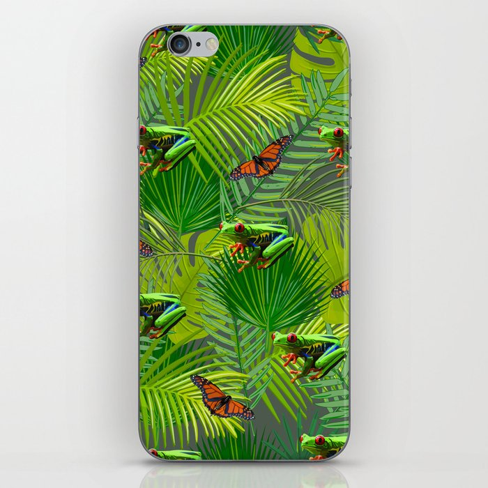 Frogs and Monarchs iPhone Skin