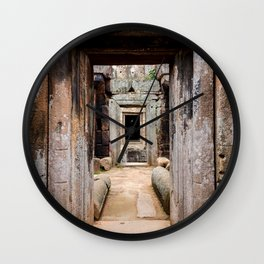 Ancient Doorway Wall Clock