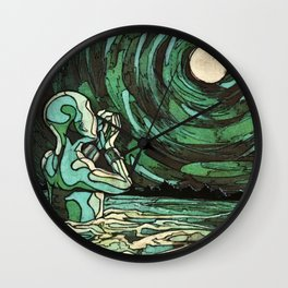 Whispered Secrets to the Moon Wall Clock