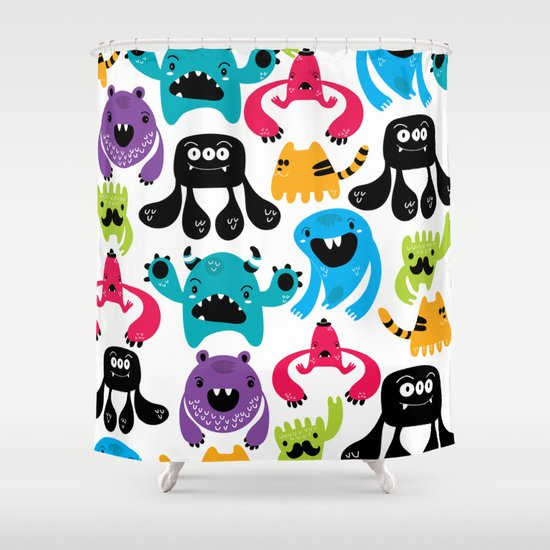 Monster pattern Shower Curtain