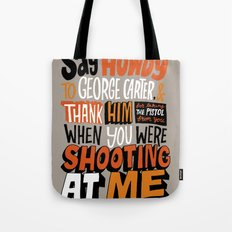 Shooting At Me Tote Bag