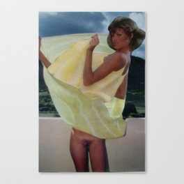 All My Life I've Been Wishing For a Gust of Wind - Vintage Collage Canvas Print