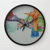 rio de janeiro Wall Clocks featuring Rio de Janeiro by Danielle Lima