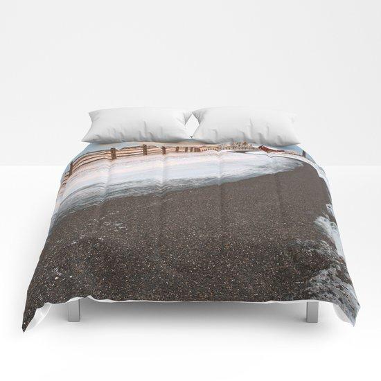 Winding Winter Road Comforters