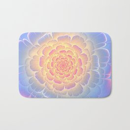 Romantic violet and yellow flower Bath Mat