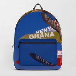 Travel direction road post Backpack