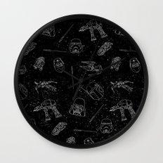 Star Doodles Wall Clock