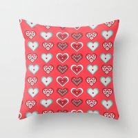 valentine Throw Pillows featuring Valentine by Heaven7