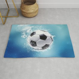 Soccer Water Splash Rug